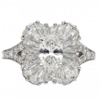 Vintage Tiffany & Co. diamond ballerina ring, American, circa 1970.