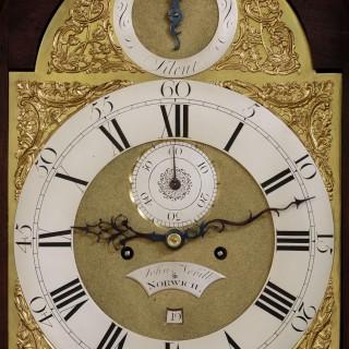 Georgian Mahogany Longcase Clock by John Nevill, Norwich