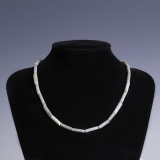 Egyptian Faience Cylindrical Beaded Necklace