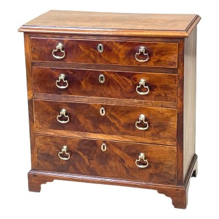 Georgian Mahogany Childs Chest Of Drawers
