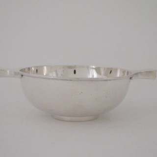 Chester Antique George V Sterling Silver Quaich - 1927