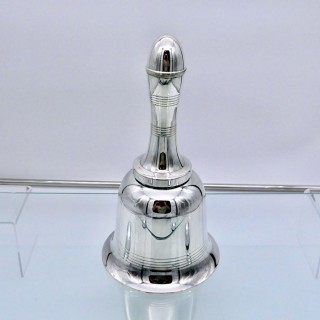 Modern George V Silverplated Bell Formed Cocktail Shaker Circa 1930 EPNS