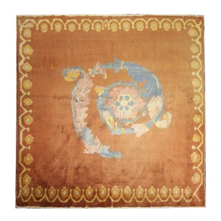 Handwoven Oriental Kohtan Rug, Traditional Central Asian Carpet 181x191cm