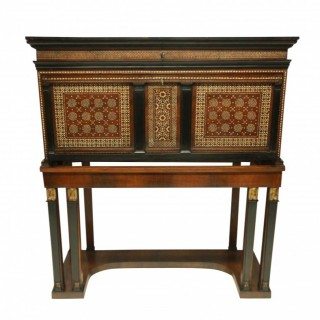 A FINE XVII CENTURY SPANISH VARGUENO CABINET IN THE MOORISH TASTE