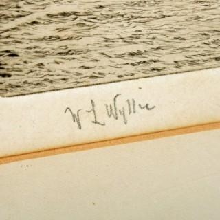 Signed W L Wyllie Etching