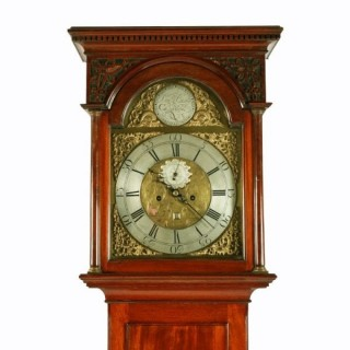 Scottish Mahogany Grandfather Clock
