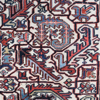 Old Persian Heriz roomsize carpet 296x212cm