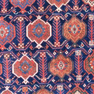 Superfine antique Afshar tribal rug 120x107cm