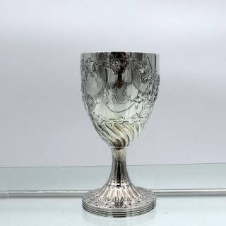 18th Century Antique George III Sterling Silver Wine Goblet London 1788 Henry Chawner