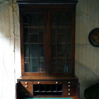 A Good Quality Regency Mahogany Secretaire Bookcase c.1825-30