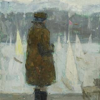 Woman and Sailboats
