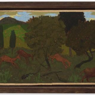Composition aux chèvres &  Paysage et animaux