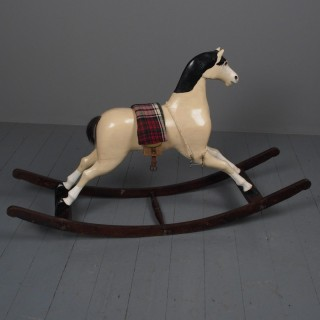 Antique Carved Pine Rocking Horse