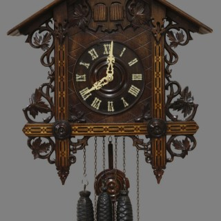 Black Forest Wall Mounted Cuckoo and Quail Clock