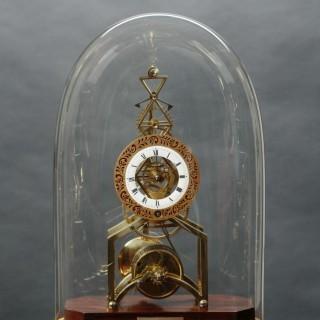 Regency Skeleton Clock by William Carter, Tooley St, London
