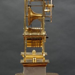 Early Victorian Skeleton Clock by Joseph Watson & Son, Cambridge