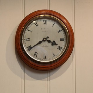 Golden Oak Sychronome Wall Clock