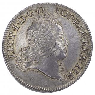 """FRANCE, LORRAINE, LEOPOLD I (1697-1729 AD), LÉOPOLD D""""ARGENT (ÉCU, DIT AUBONNE), 1725 – RARE"""