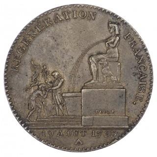 FRANCE, REPUBLIC (1792-1795 AD), CONVENTION, BRONZE 5 DECIMES, L'AN 2, 1793, PARIS