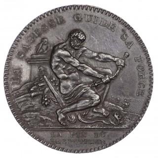 FRANCE, REPUBLIC (1792-1795), CONVENTION PATTERN 2 SOLS, 1792