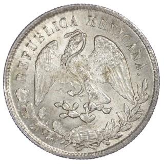 MEXICO, REPUBLIC, SILVER 1 PESO, 1902, ZACATECAS