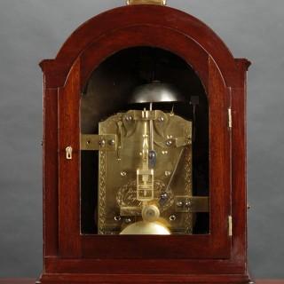 Georgian Mahogany Bracket Clock by James McCabe, London