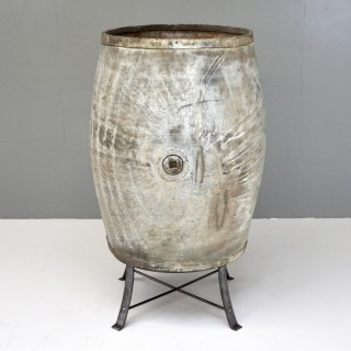 Large Steel Barrell on Stand