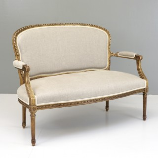 Giltwood Two Seater Settee