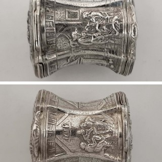Antique German Silver Double Box by Wolf & Knell