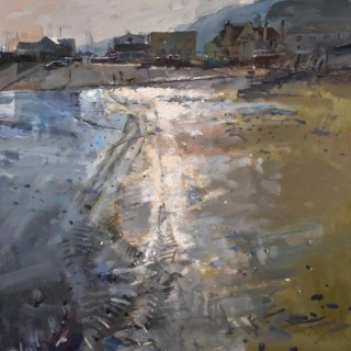'Low Tide & Long Dogs, Lyme Regis' by Richard Pikesley RWS PPNEAC