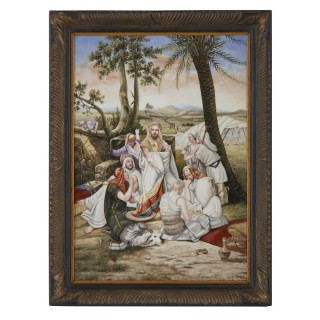 Antique Orientalist German Painted KPM Style Porcelain Plaque