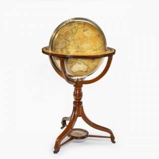 A George IV 18-inch floor-standing library globe by John Smith