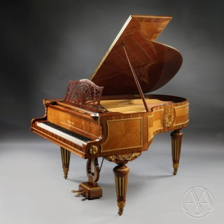 A Fine Louis XVI Style Gilt-Bronze Mounted Baby Grand Piano
