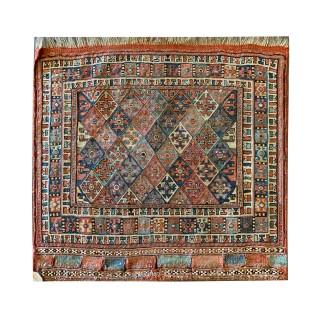 Handwoven Wool Persian Kilim Sumakh- 44x58cm