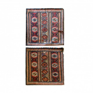 Pair of handwoven Soumakh Saddle Bags- 55x56cm