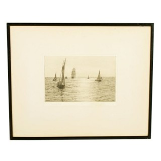 Pencil signed Etching, Rowland Langmaid