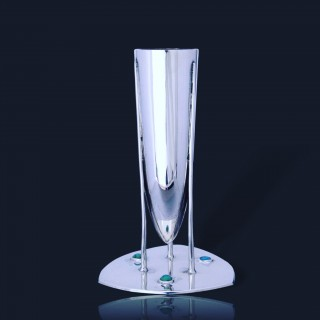 Archibald Knox Cymric silver and turquoise  art nouveau vase