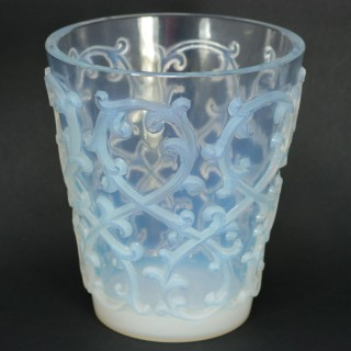 Rene Lalique Opalescent Glass 'Sarments' Glass Rinser