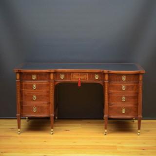 Superb Late Victorian Adams Style Mahogany Desk