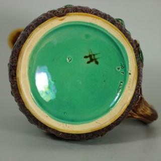 Minton Majolica Oak Jug/Pitcher with Snail Handle