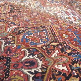 Large antique Heriz carpet