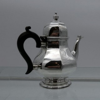 Early 20th Century Antique George V Sterling Silver Teapot Birmingham 1911 Henry Matthews