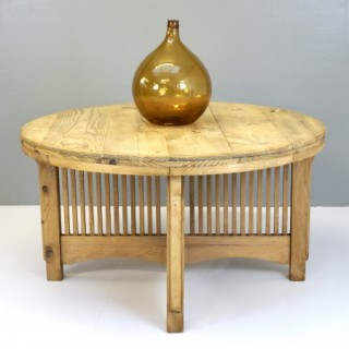 Large Circular Pine Table