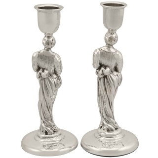 Sterling Silver Candlesticks - Antique Victorian (1888)