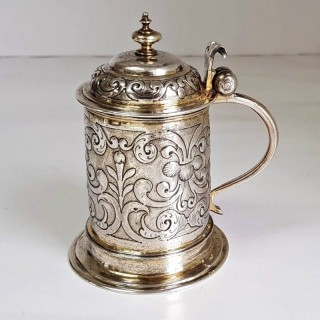 German Parcel Gilt Silver Tankard