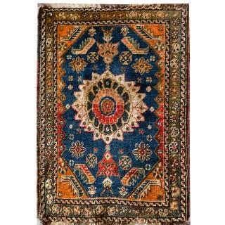 Small Handmade Persian Hamadan Rug- 46x80cm