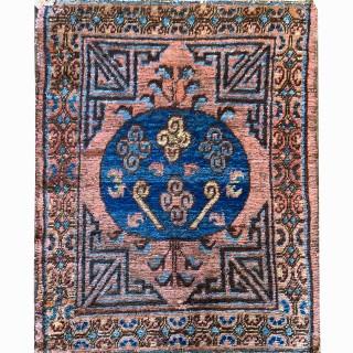 Small Antique  Handwoven Khotan Area Rug - 74x94cm