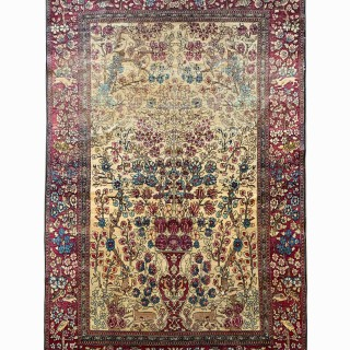 Antique Persian Wool Kashan Rug- 125x197cm