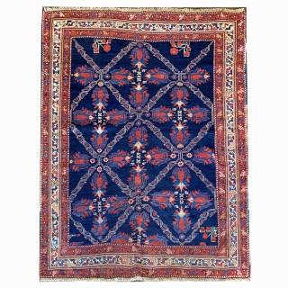 Handmade Antique Wool Azerbaijan Rug- 131x165cm