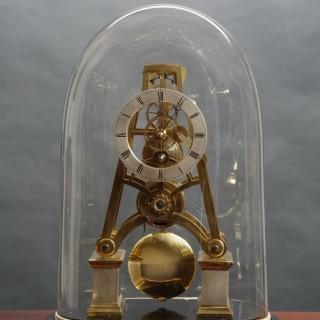 Victorian 'A' framed Skeleton Clock